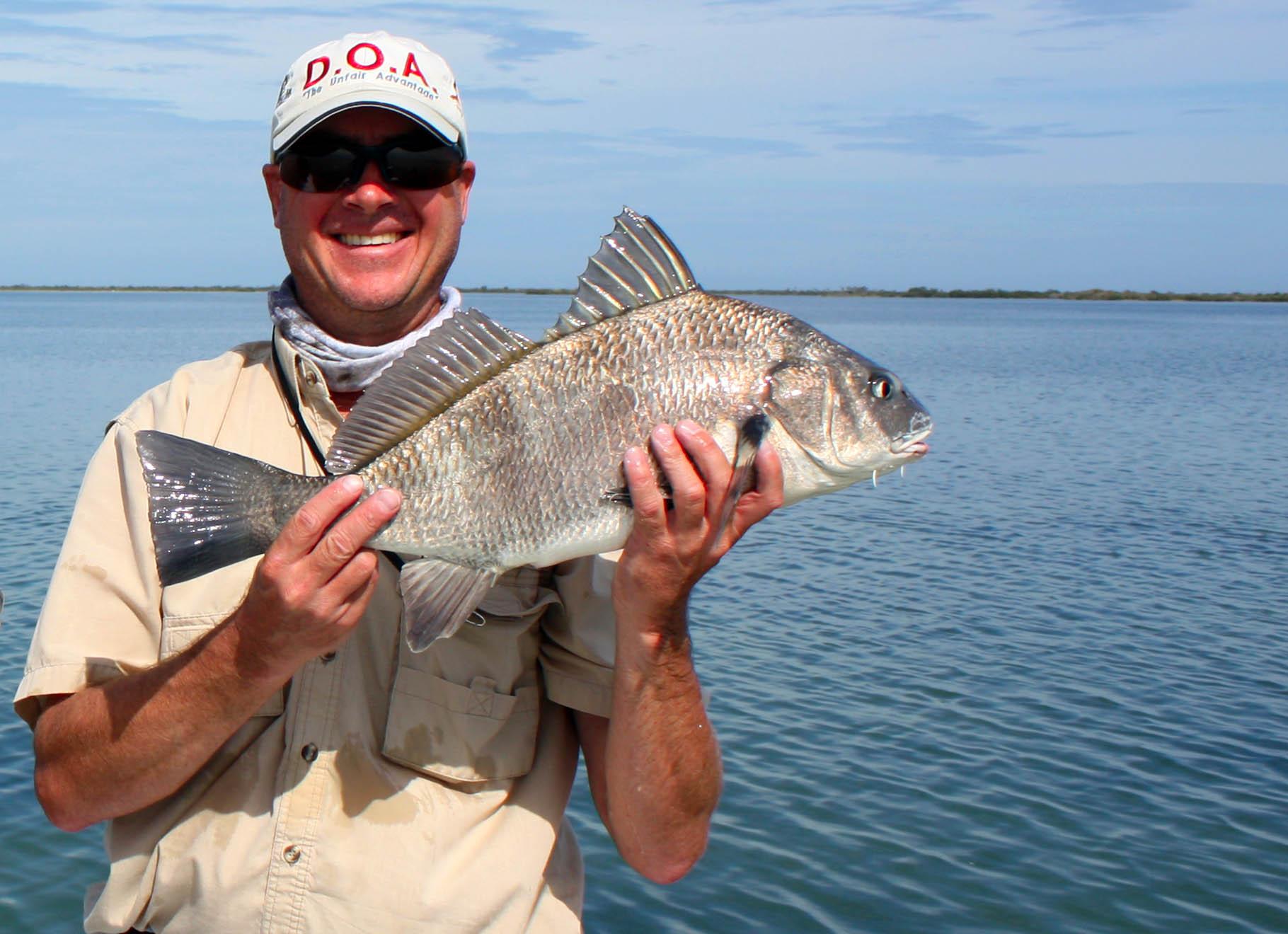 Orlando flats fishing guide mosquito lagoon banana for Black drum fishing