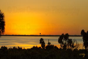 Sunset Over The Kennedy Space Center and Mosquito Lagoon